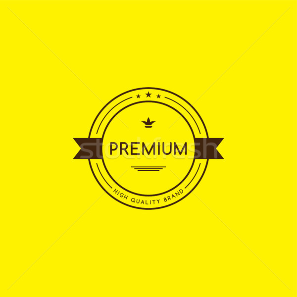 Prim kalite garanti ürün etiket rozet Stok fotoğraf © vector1st