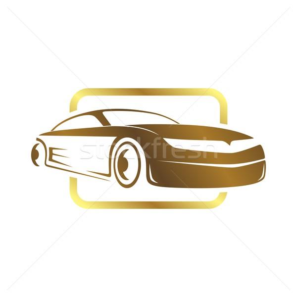 Sportautó sablon vektor művészet illusztráció autó Stock fotó © vector1st