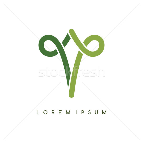 celtic overlapped black abstract floral concept logo logotype Stock photo © vector1st