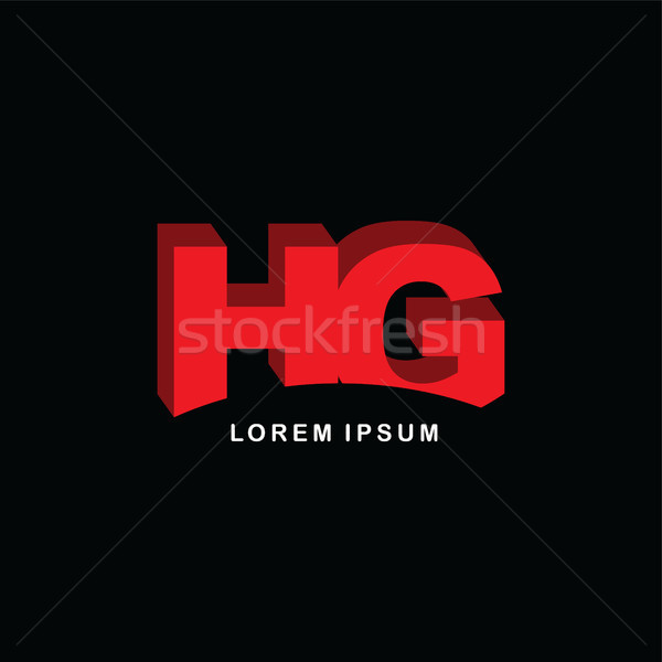 red block initial letter brand logo template logotype Stock photo © vector1st