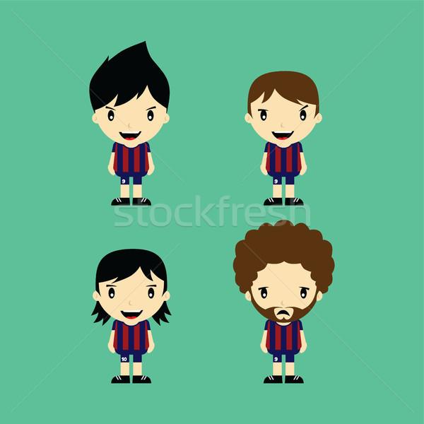Vicces rajz labdarúgó liga vektor művészet Stock fotó © vector1st