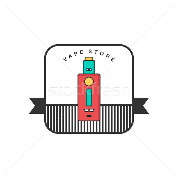 ретро цвета Знак электрических сигарету вектора Сток-фото © vector1st