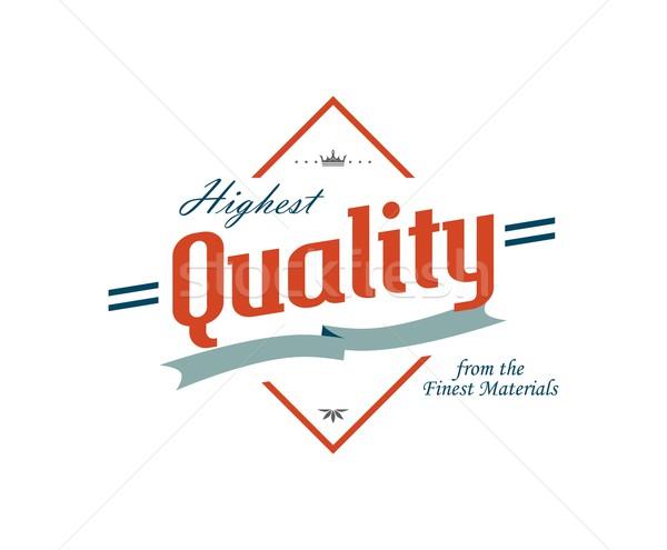 Label Aufkleber editierbar Vektor Grafik Kunst Stock foto © vector1st