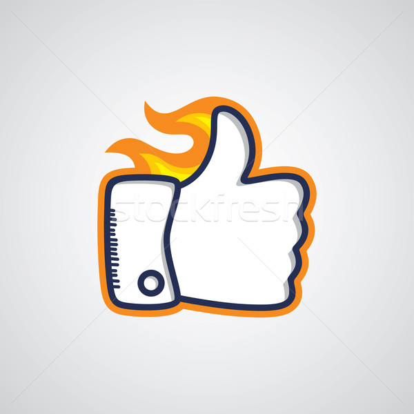 thumb up sign Stock photo © vector1st