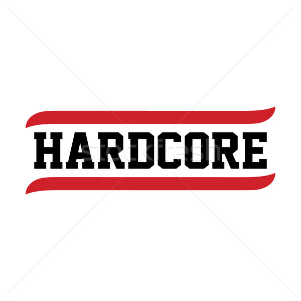 black red text hardcore Stock photo © vector1st