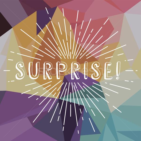 surprise text sunrays retro theme Stock photo © vector1st