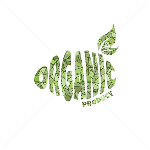 Umweltfreundlich natürlichen Label Produkt Aufkleber Stock foto © vector1st