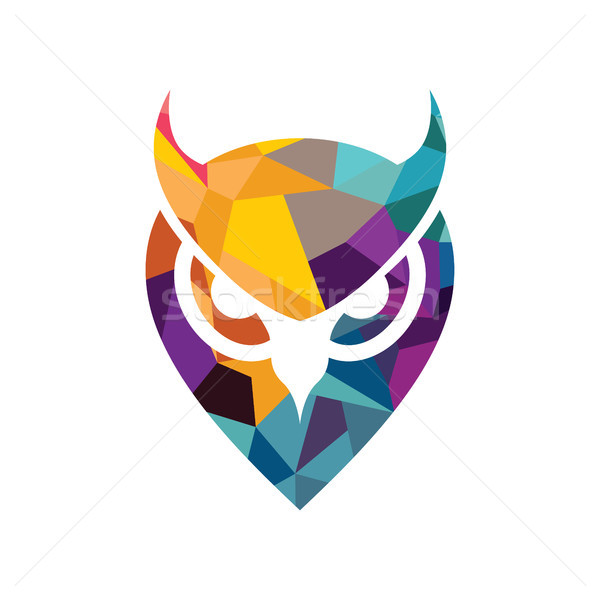 vector owl logo Stock photo © vector1st