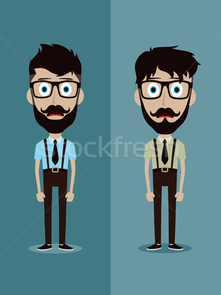 businessman office guy funny cartoon character Stock photo © vector1st