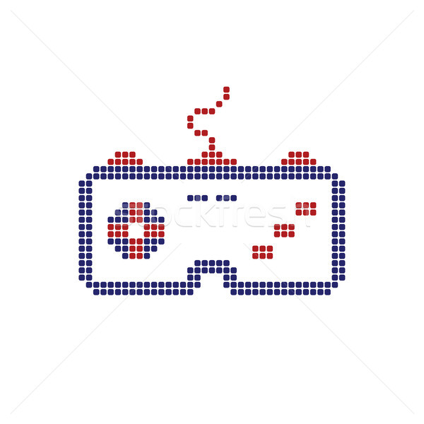 Joystick jeu consoler logo Photo stock © vector1st