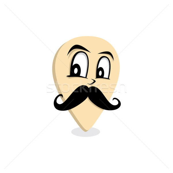 mustache gentleman map pin locator Stock photo © vector1st