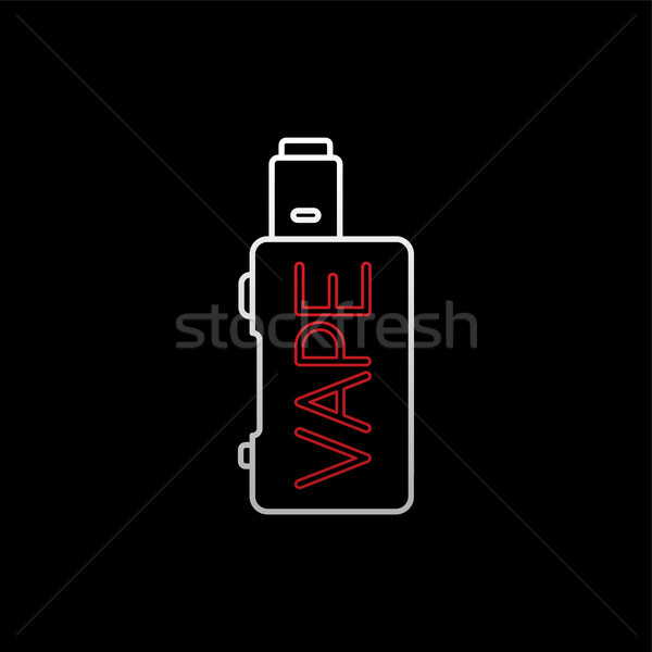vaporizer electric cigarette vapor mod - vape life Stock photo © vector1st