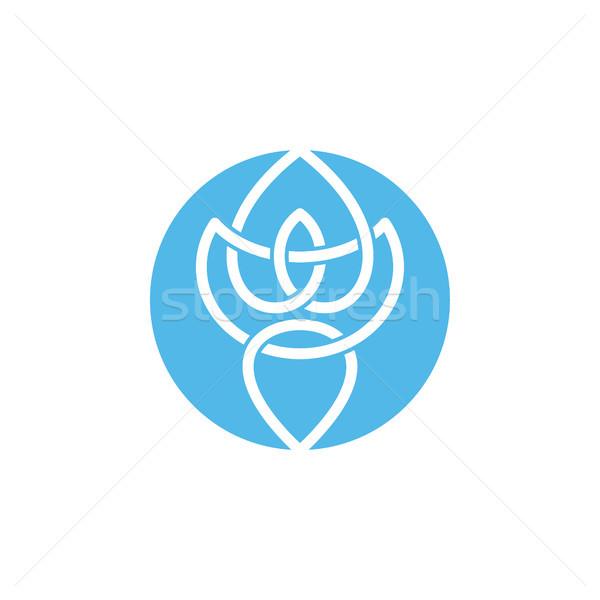 Daire biçim stil ikon logo vektör Stok fotoğraf © vector1st