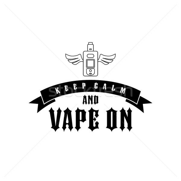 электрических сигарету личные вектора искусства иллюстрация Сток-фото © vector1st