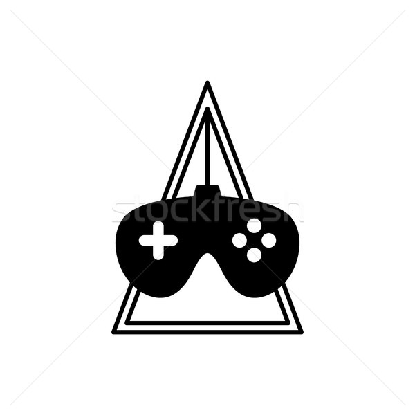 video game console joystick theme logo template Stock photo © vector1st