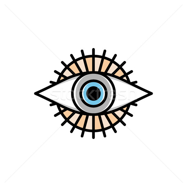 1 眼 神 宗教 にログイン シンボル ストックフォト © vector1st
