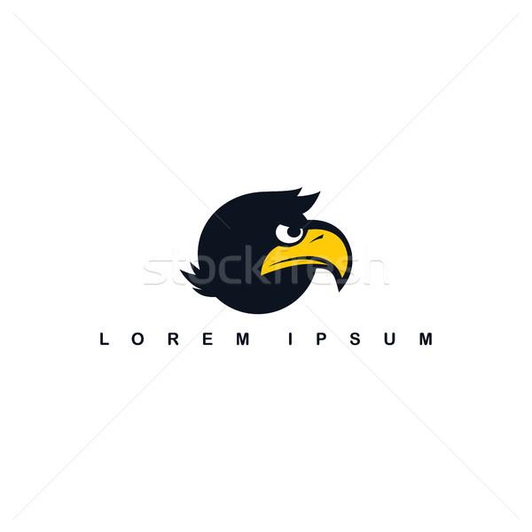 eagle hawk bird logo template Stock photo © vector1st
