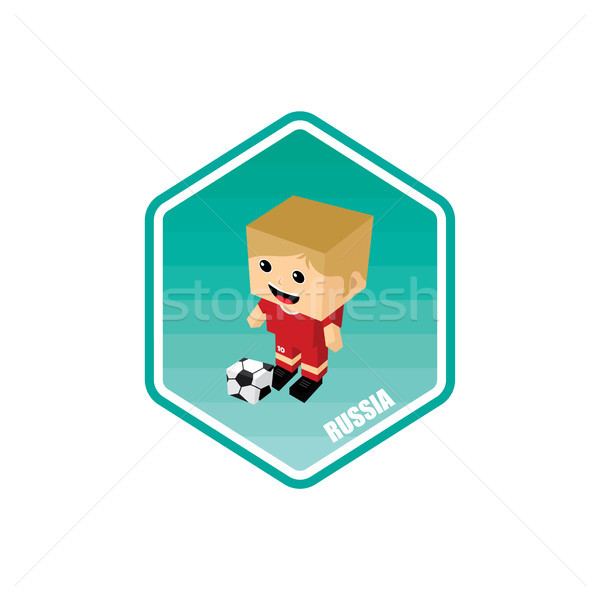 russia soccer tournament 2018 isometric theme Stock photo © vector1st