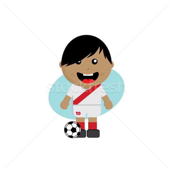 Grupo equipe torneio de futebol Rússia vetor arte Foto stock © vector1st