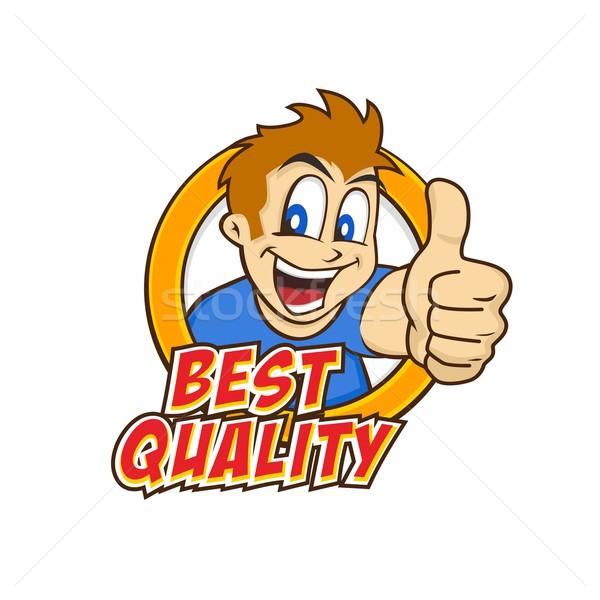 cartoon guy thumbs up Stock photo © vector1st