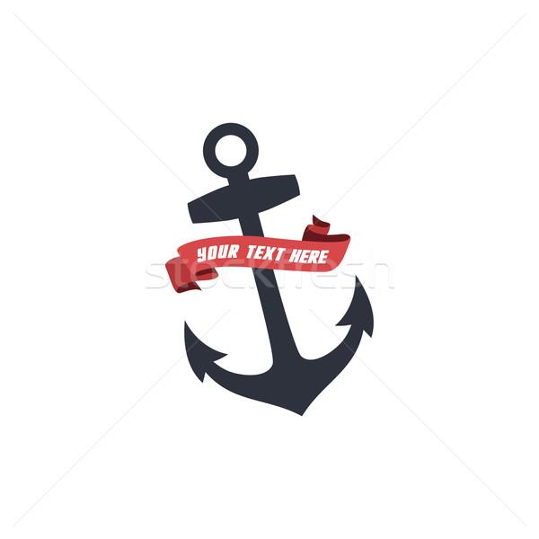 船乗り アンカー 海 ベクトル 芸術 ストックフォト © vector1st