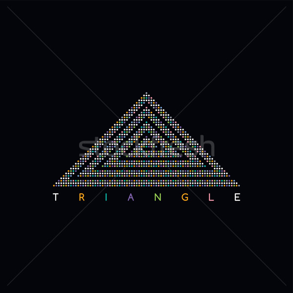 triangle shape dot logotype Stock photo © vector1st