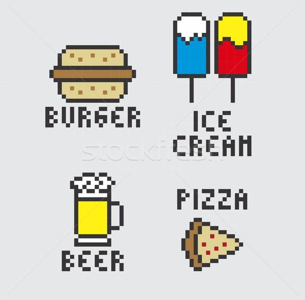 żywności pić wektora projektu sztuki graficzne Zdjęcia stock © vector1st