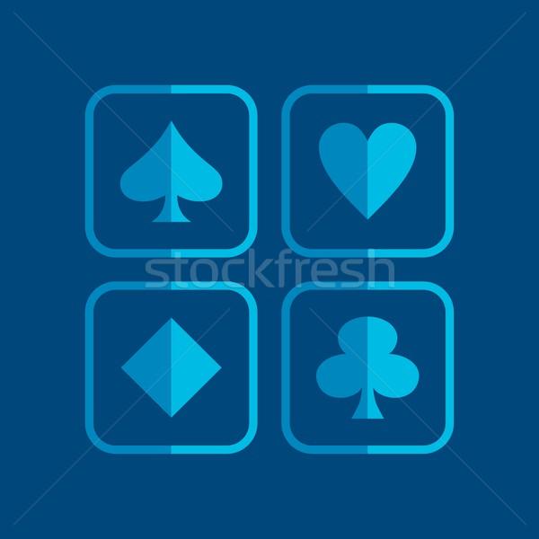 poker icon theme Stock photo © vector1st