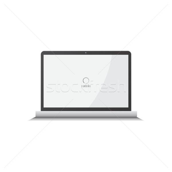 Notebook laptop számítógép vektor művészet grafikus illusztráció Stock fotó © vector1st