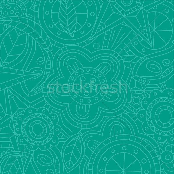 magenta floral flower pattern doodle Stock photo © vector1st