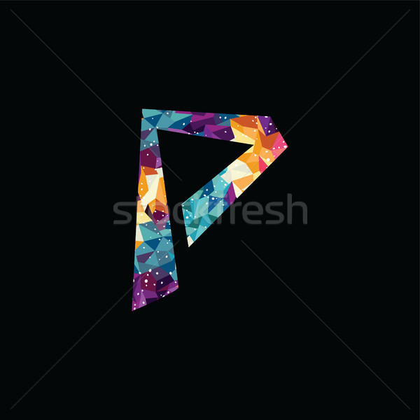 Abstract colorful triangle geometrical logo logotype template Stock photo © vector1st