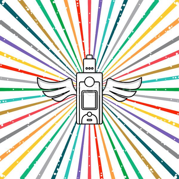 Elétrico cigarro pessoal vetor arte ilustração Foto stock © vector1st