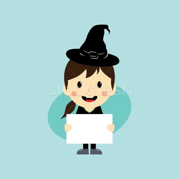 Halloween vecteur art illustration femme Photo stock © vector1st