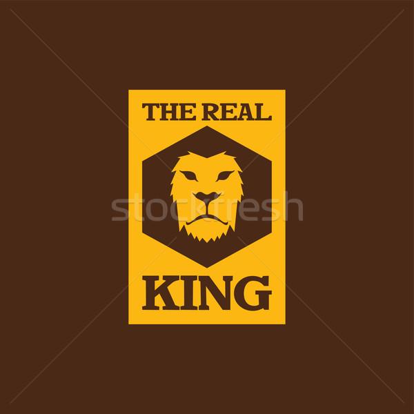 lion head template Stock photo © vector1st