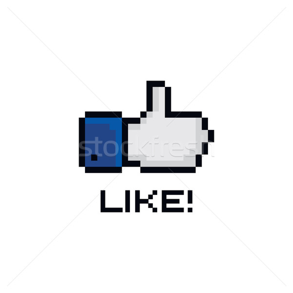 pixel theme hand gesture sign Stock photo © vector1st