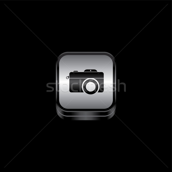 metal plate camera photography theme icon button Stock photo © vector1st
