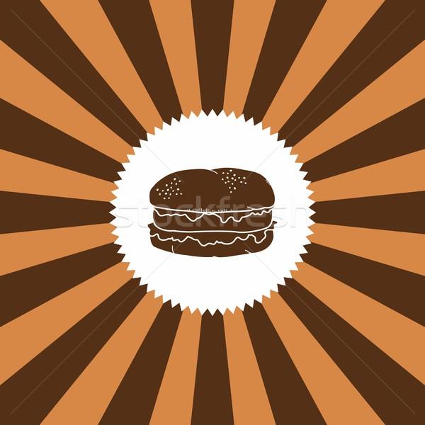 étel ital hamburger grafikus művészet étterem Stock fotó © vector1st