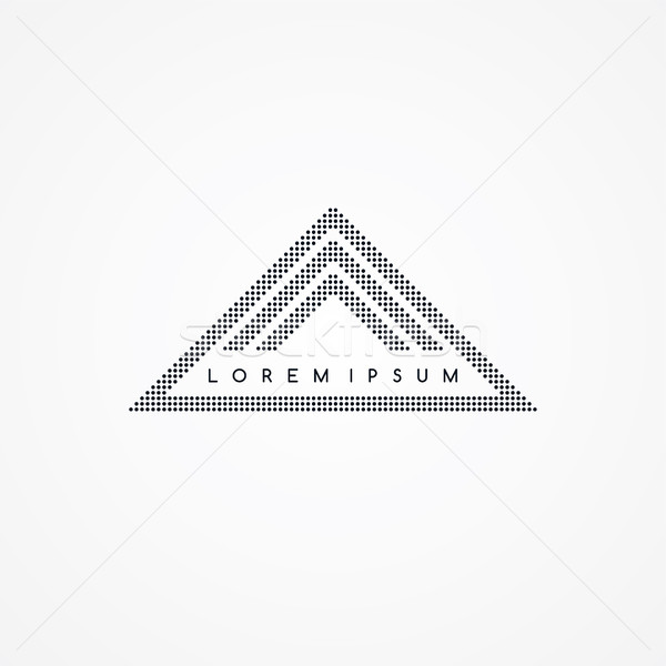 three side triangle theme dot logotype Stock photo © vector1st