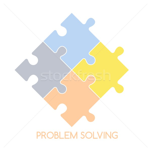 Puzzle problème résoudre vecteur art illustration Photo stock © vector1st
