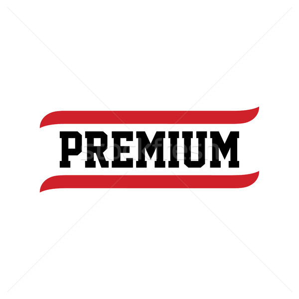 black red text premium quality Stock photo © vector1st