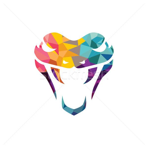 Vector serpiente logo plantilla peligro icono Foto stock © vector1st