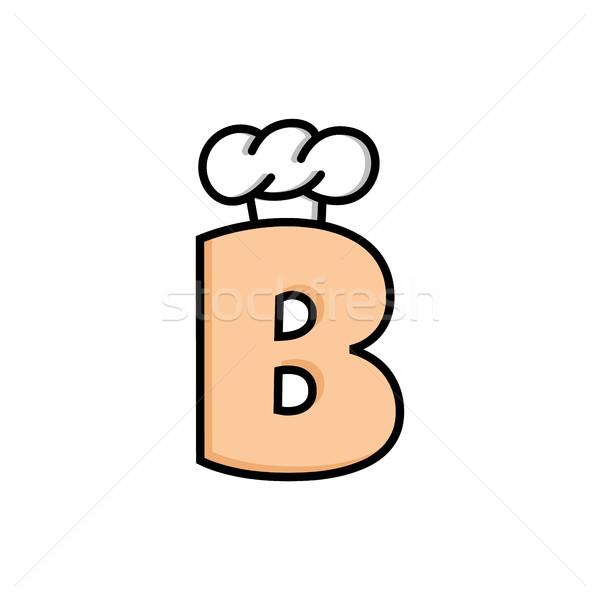 Szakács sapka logo logotípus levél étel terv Stock fotó © vector1st