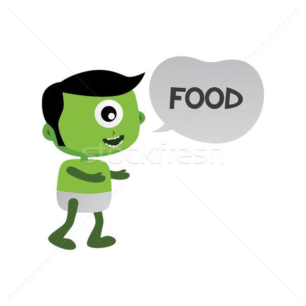 Photo stock: Vert · zombie · monstre · personnage · vecteur · art