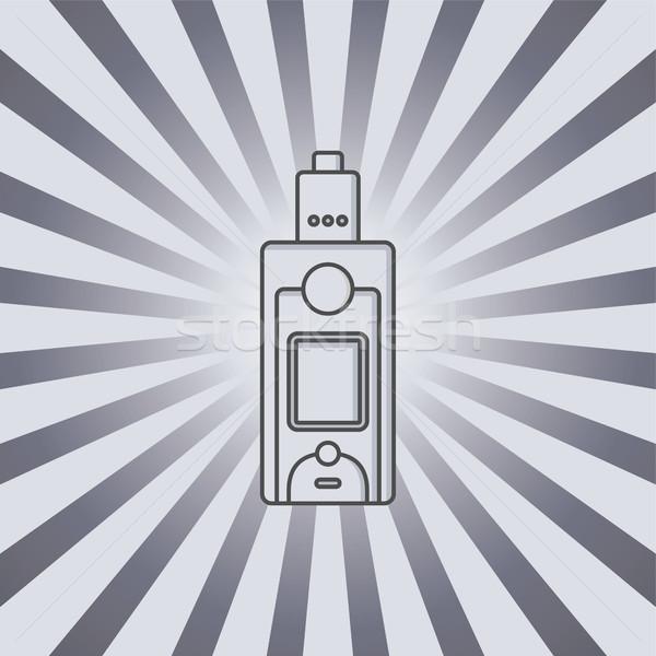 Elettrici sigaretta vapori vita vettore mano Foto d'archivio © vector1st