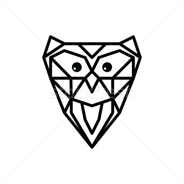 Bagoly logo logotípus vektor madár éjszaka Stock fotó © vector1st