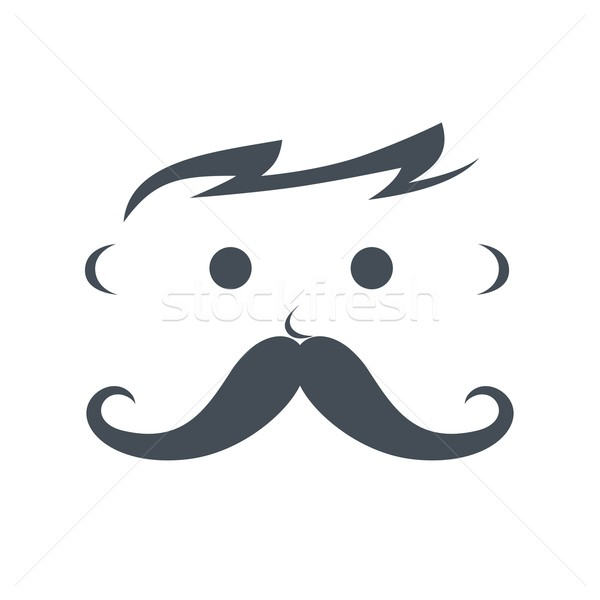 Stock photo: whiskers mustache guy avatar