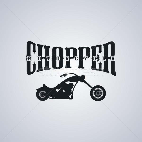 Motorfiets klassiek vector kunst illustratie gelukkig Stockfoto © vector1st