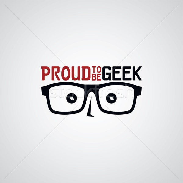 geek nerd guy Stock photo © vector1st