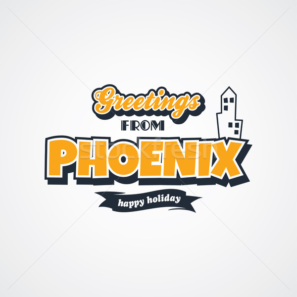 Stockfoto: Phoenix · vakantie · vector · kunst · illustratie
