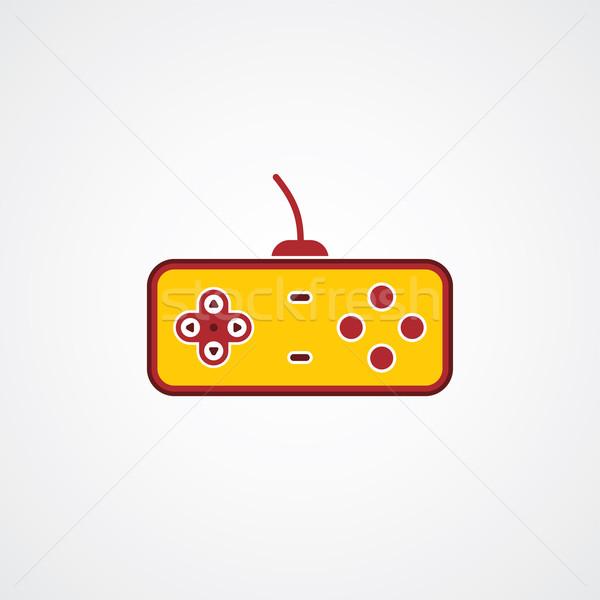Játék konzol botkormány vektor művészet illusztráció Stock fotó © vector1st